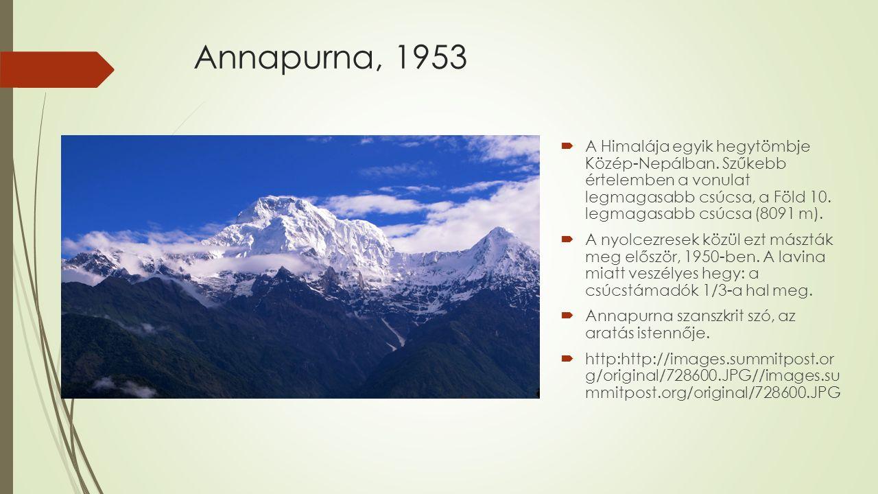 Annapurna, 1953