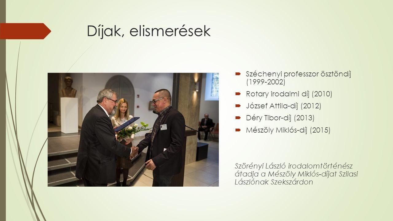 Díjak, elismerések Széchenyi professzor ösztöndíj (1999-2002)