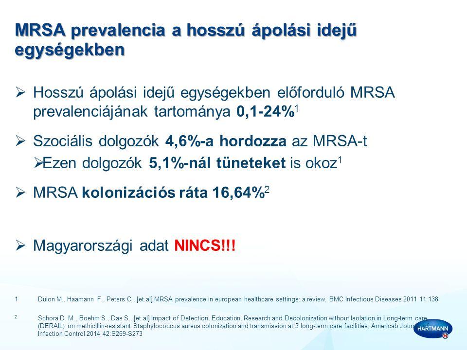 MRSA prevalencia a hosszú ápolási idejű egységekben