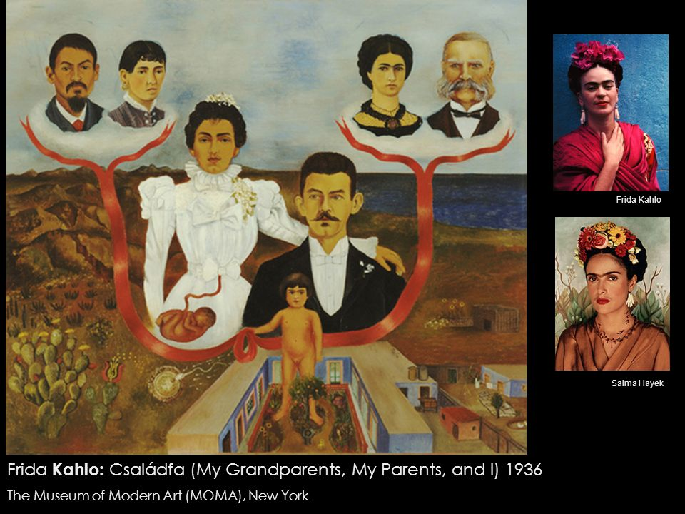 Frida Kahlo: Családfa (My Grandparents, My Parents, and I) 1936