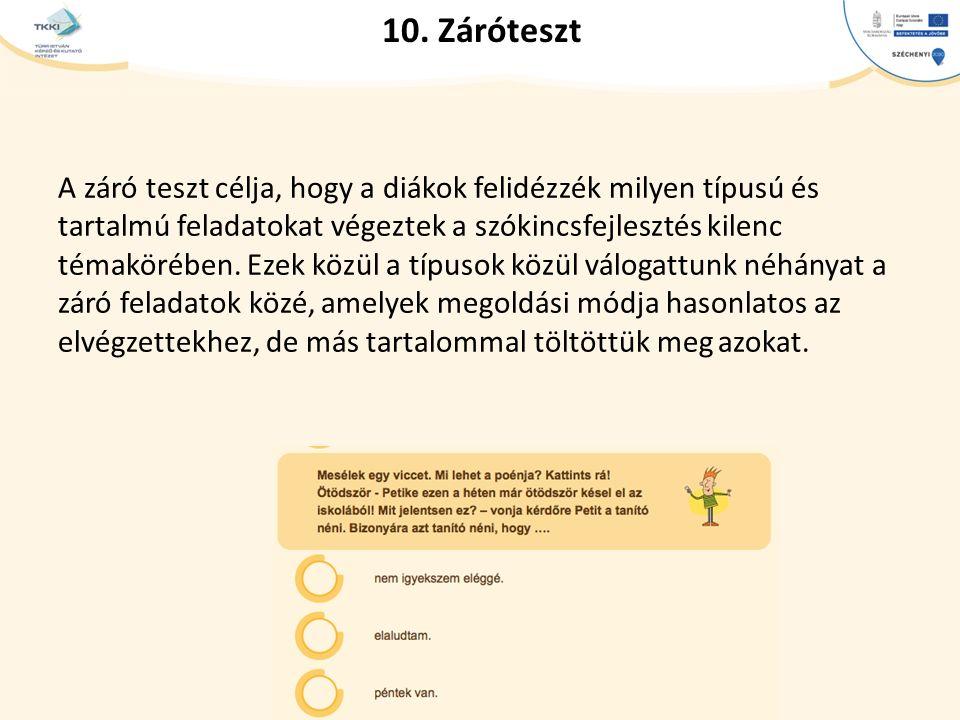 10. Záróteszt