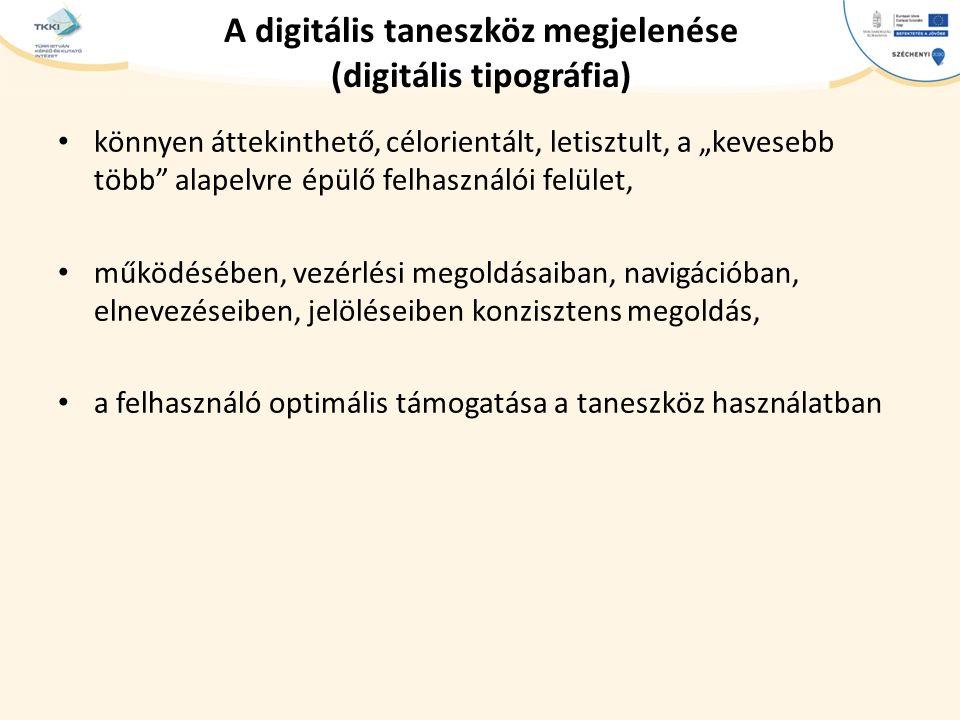 A digitális taneszköz megjelenése (digitális tipográfia)