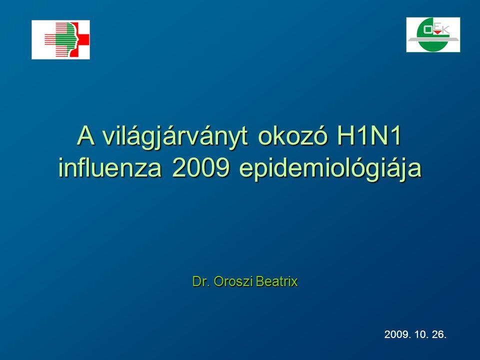 A világjárványt okozó H1N1 influenza 2009 epidemiológiája