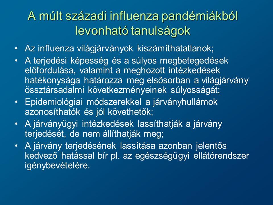 A múlt századi influenza pandémiákból levonható tanulságok