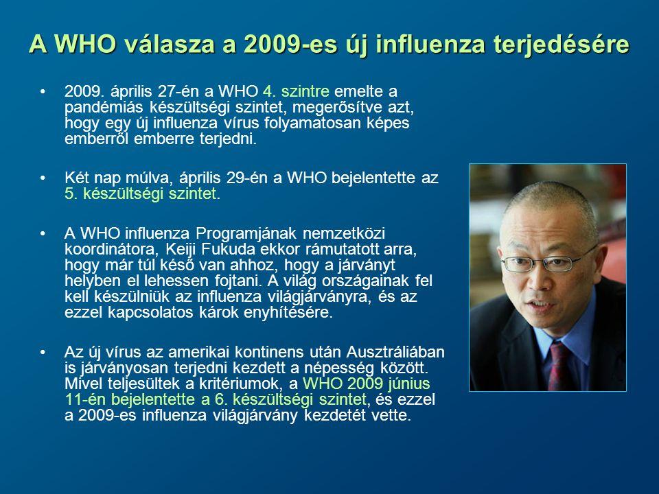 A WHO válasza a 2009-es új influenza terjedésére