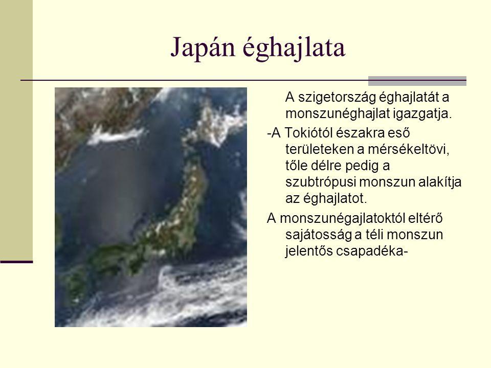 Japán éghajlata A szigetország éghajlatát a monszunéghajlat igazgatja.