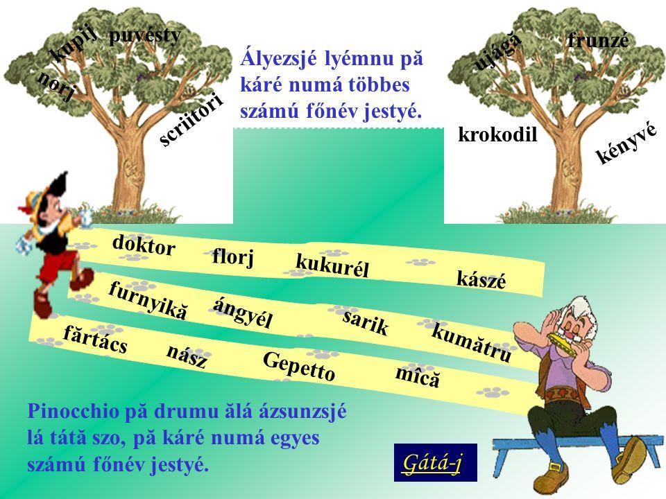 Gátá-j Ályezsjé lyémnu pă káré numá többes számú főnév jestyé. kupij
