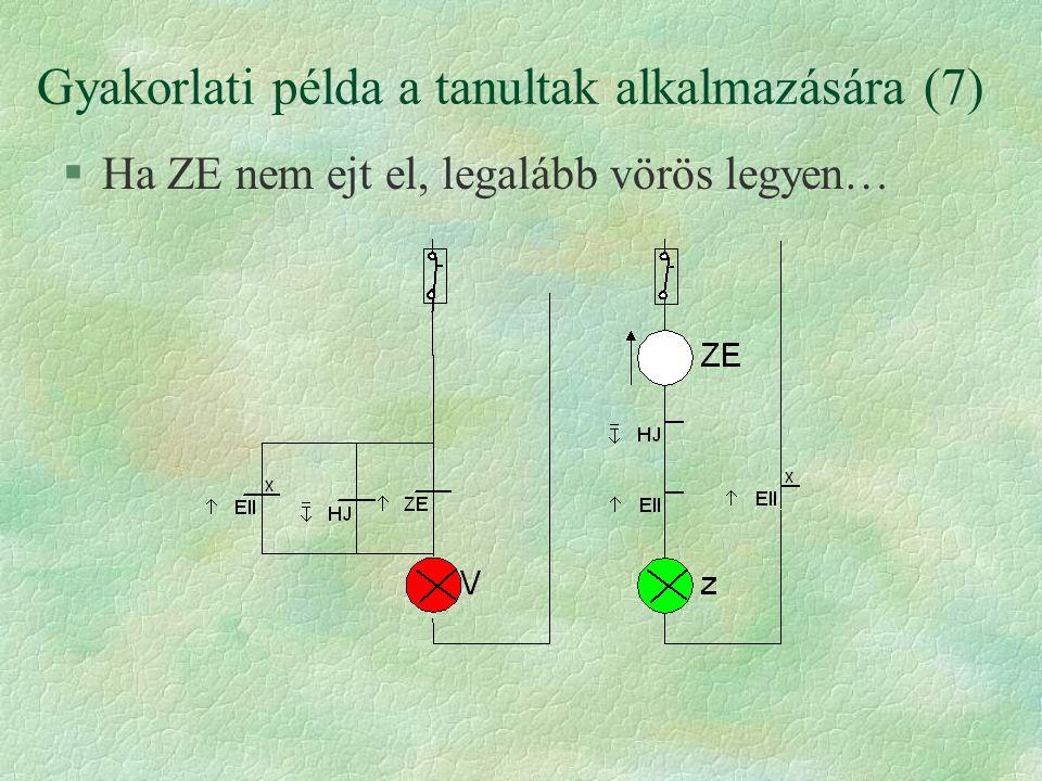 Gyakorlati példa a tanultak alkalmazására (7)