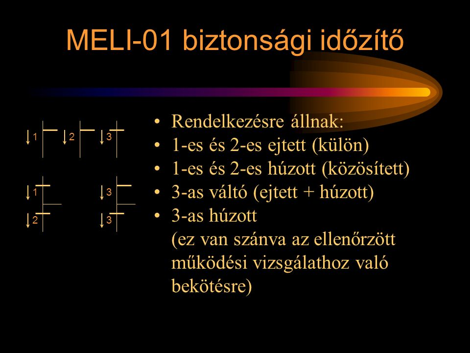 MELI-01 biztonsági időzítő