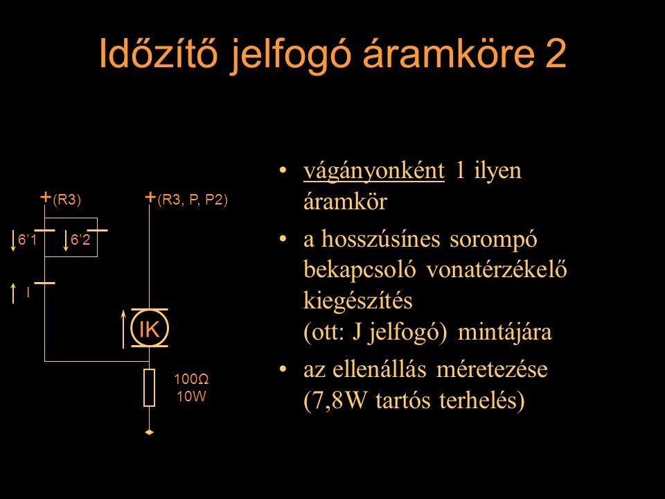 Időzítő jelfogó áramköre 2