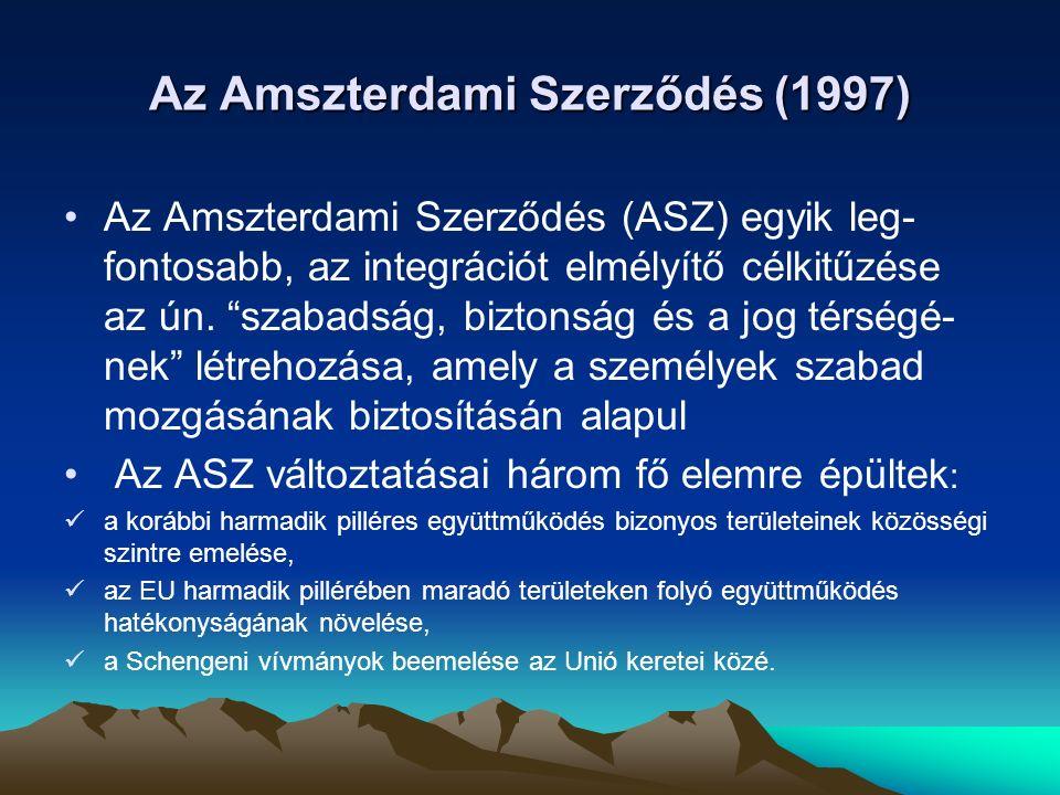 Az Amszterdami Szerződés (1997)