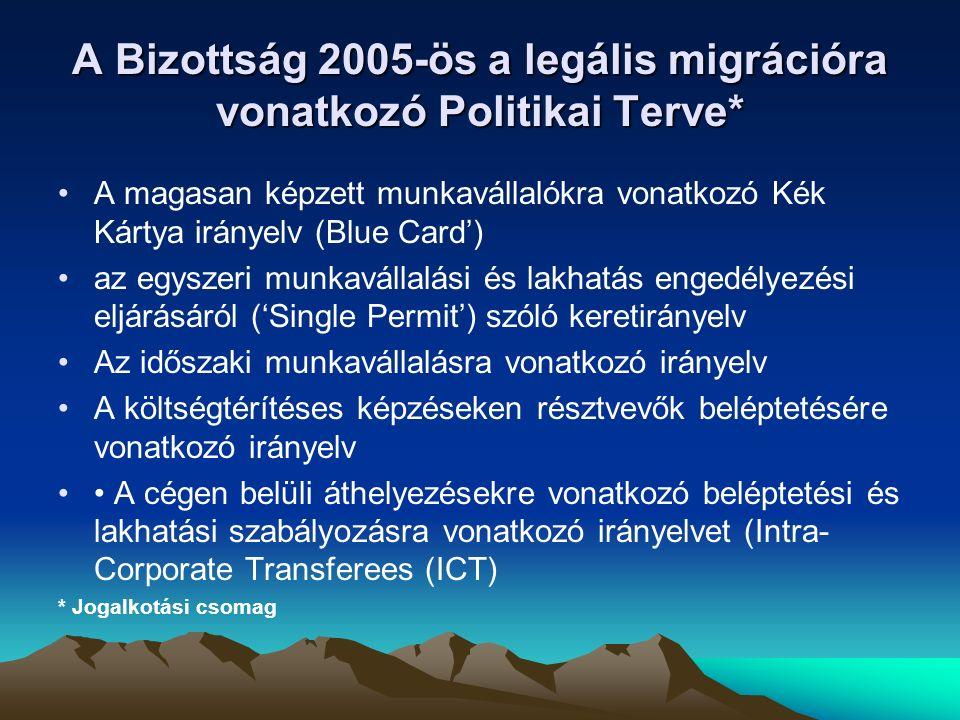 A Bizottság 2005-ös a legális migrációra vonatkozó Politikai Terve*