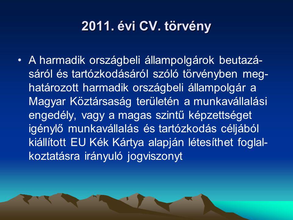 2011. évi CV. törvény