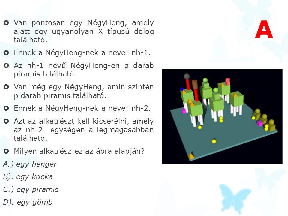 Van pontosan egy NégyHeng, amely alatt egy ugyanolyan X típusú dolog található.