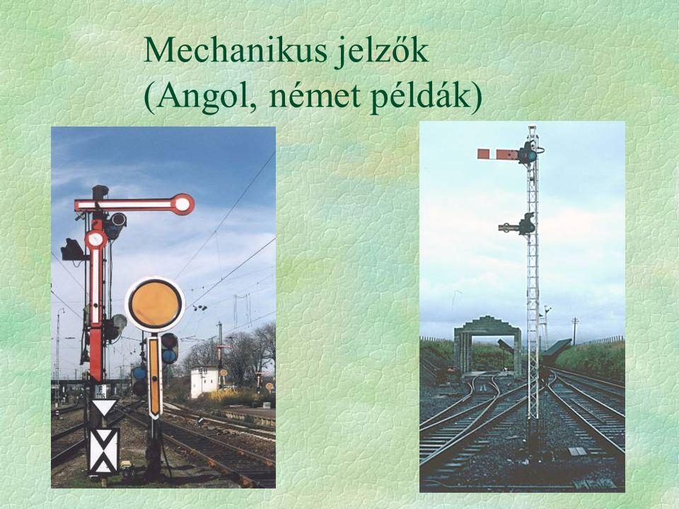 Mechanikus jelzők (Angol, német példák)