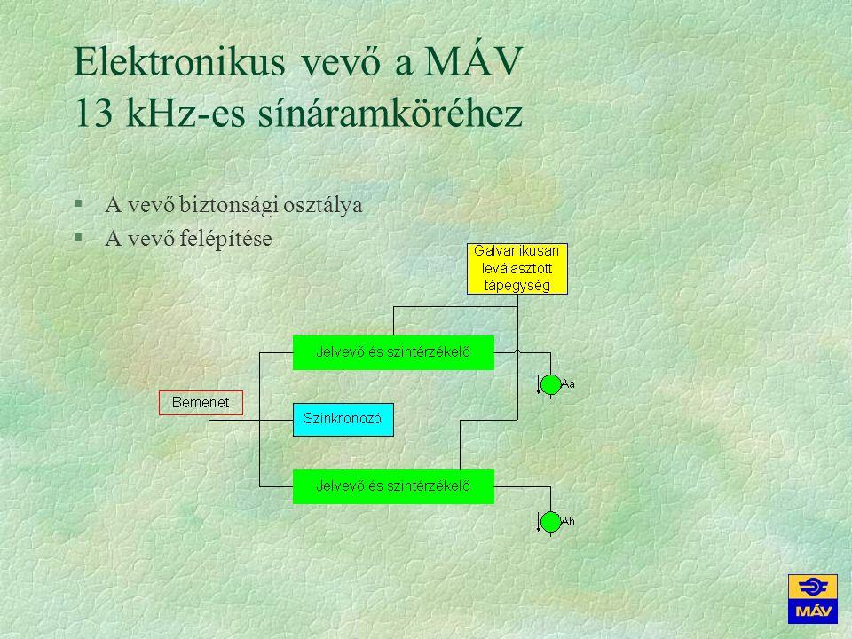 Elektronikus vevő a MÁV 13 kHz-es sínáramköréhez