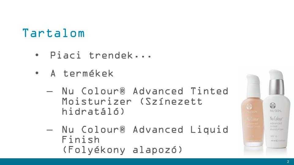 Tartalom Piaci trendek... A termékek