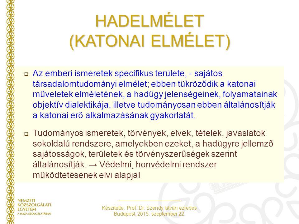 HADELMÉLET (KATONAI ELMÉLET)