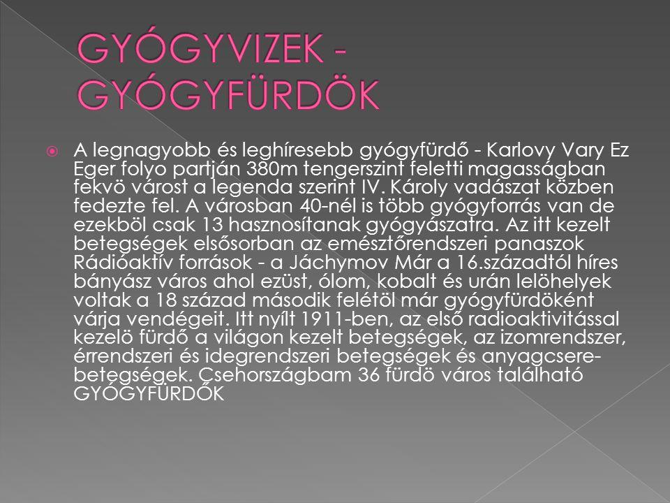 GYÓGYVIZEK - GYÓGYFÜRDÖK