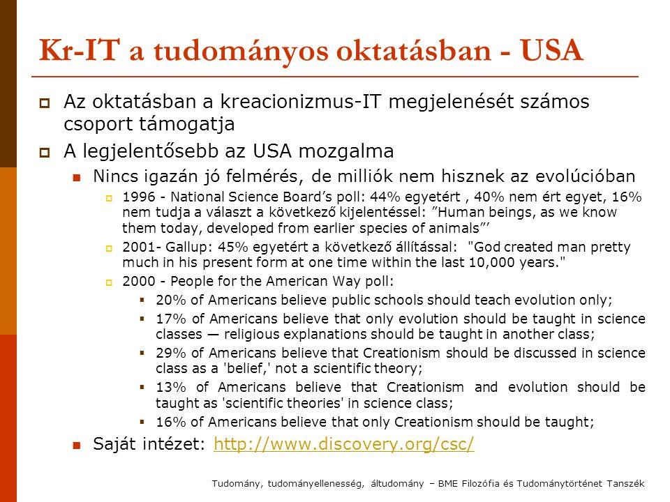Kr-IT a tudományos oktatásban - USA