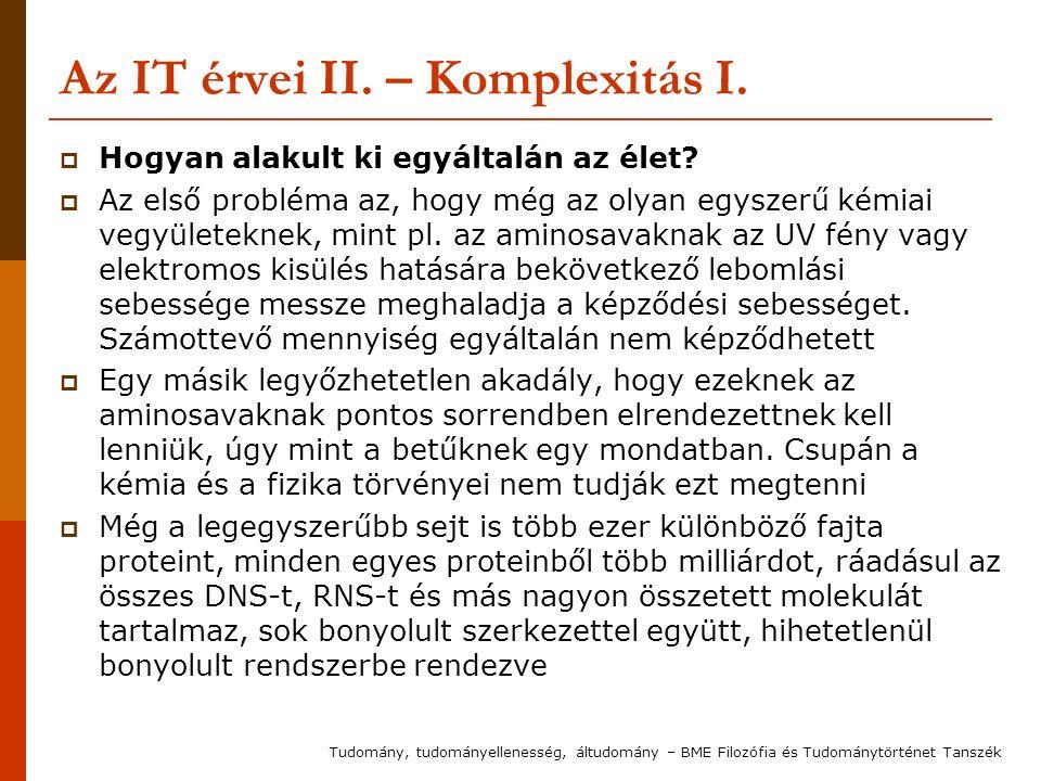 Az IT érvei II. – Komplexitás I.