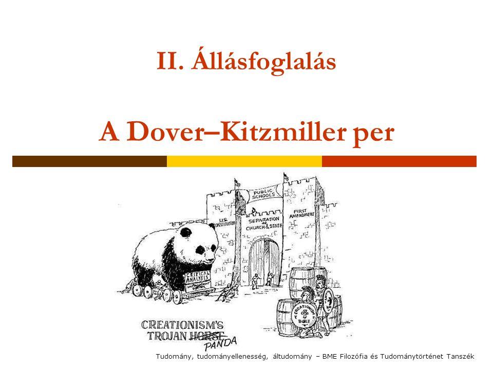 II. Állásfoglalás A Dover–Kitzmiller per