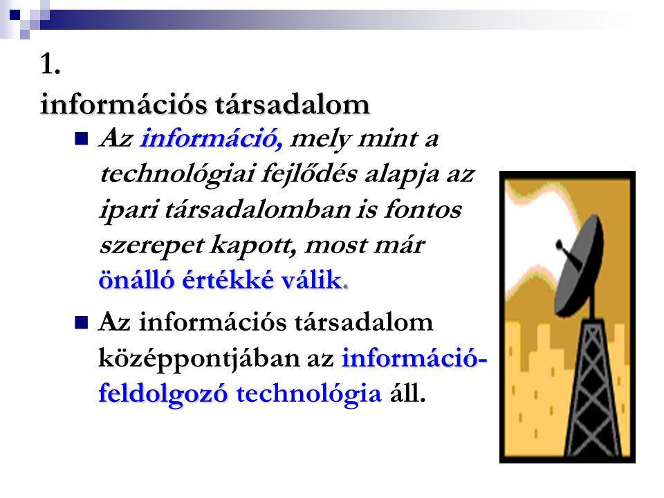 1. információs társadalom
