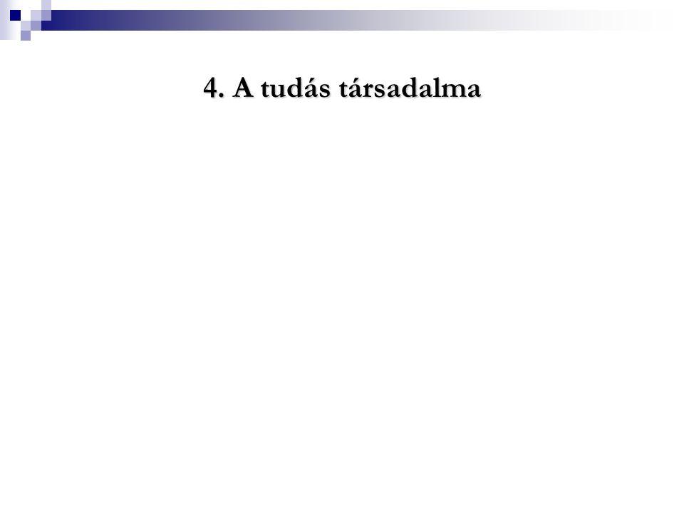4. A tudás társadalma