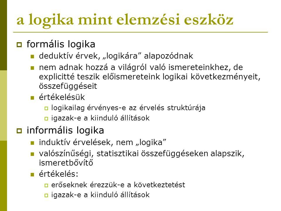 a logika mint elemzési eszköz