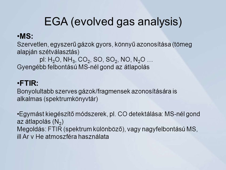 EGA (evolved gas analysis)