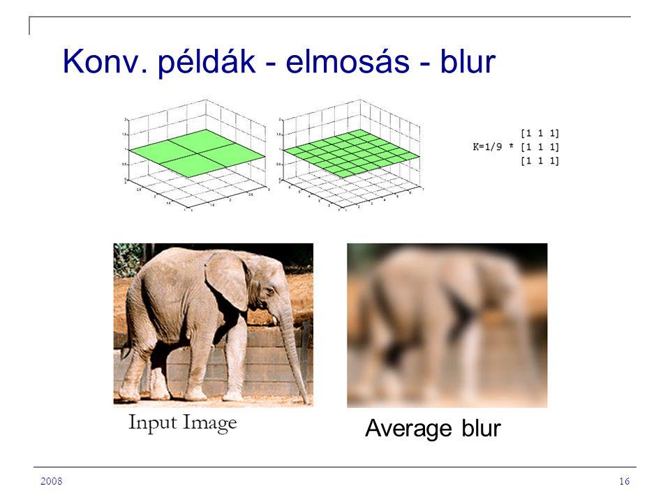 Konv. példák - elmosás - blur