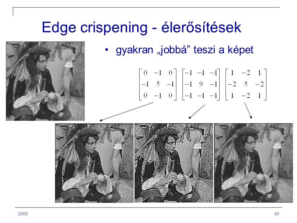 Edge crispening - élerősítések