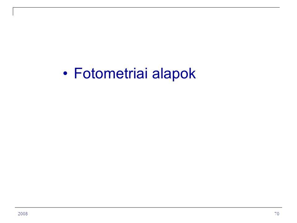Fotometriai alapok 2008