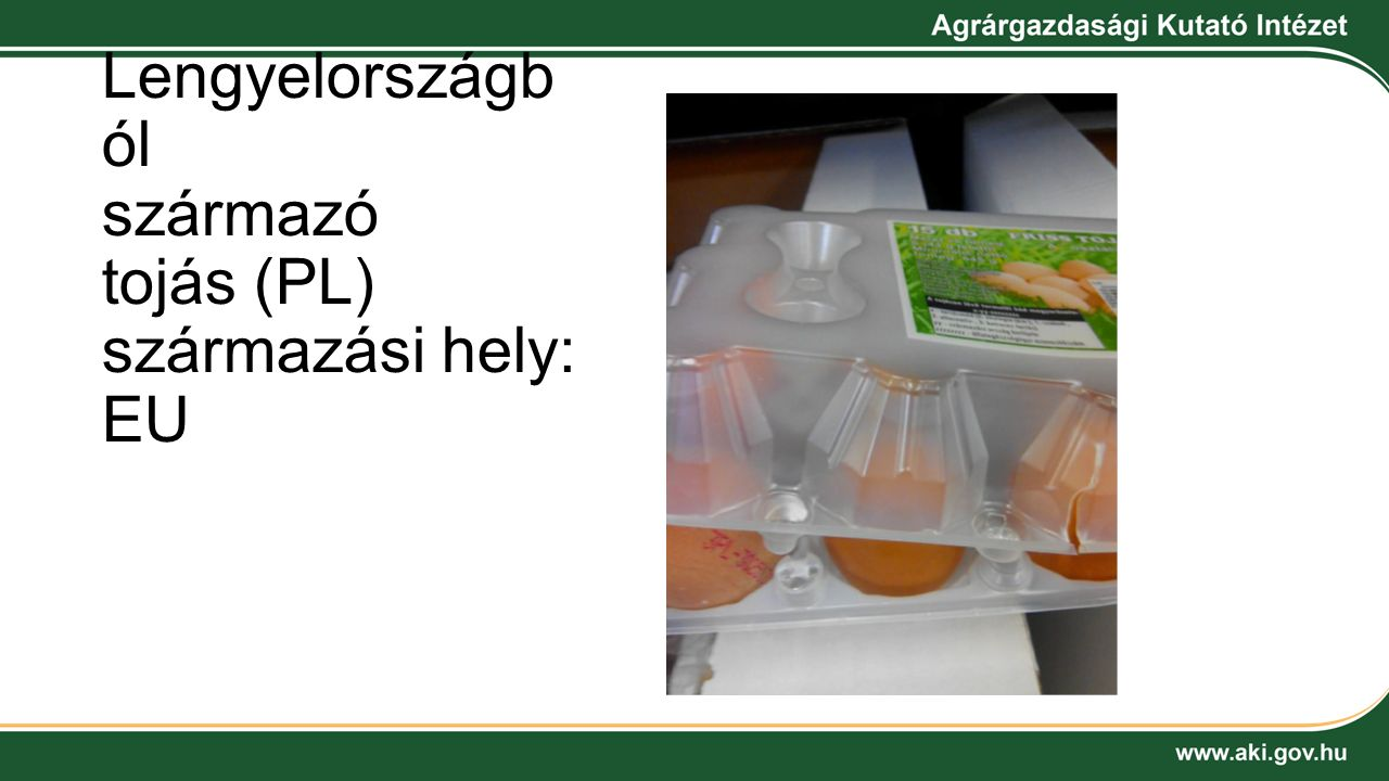 Lengyelországból származó tojás (PL) származási hely: EU