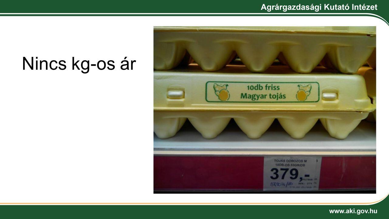 Nincs kg-os ár