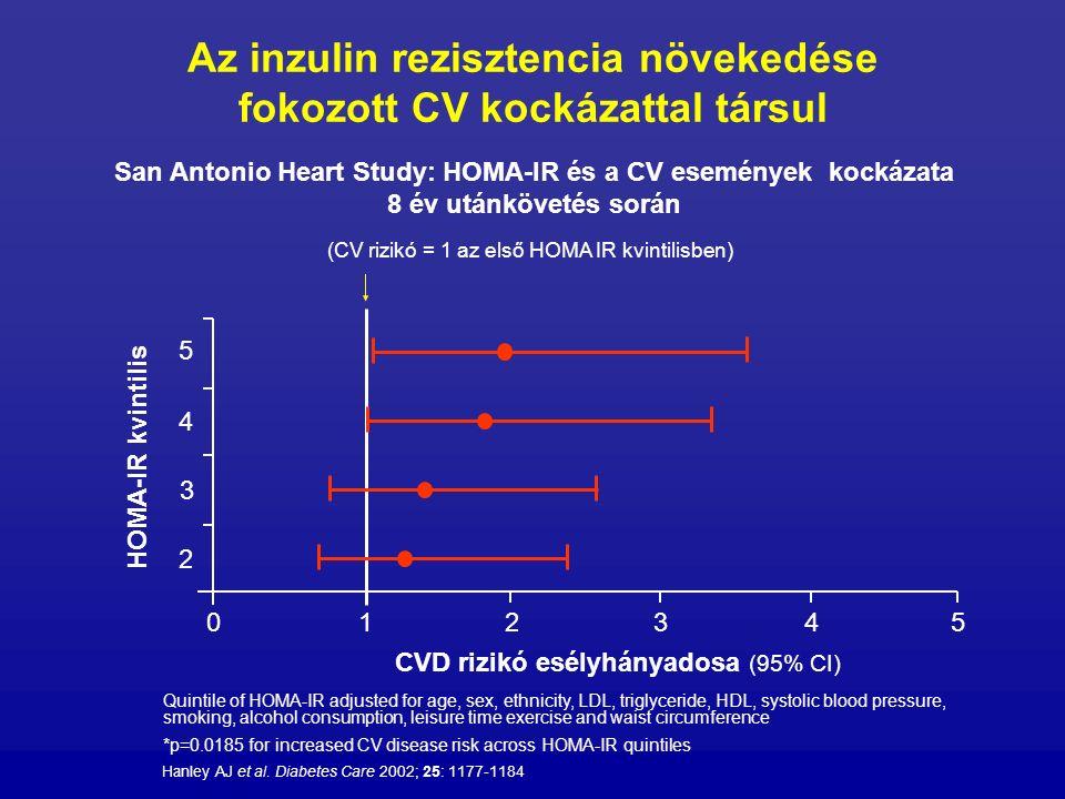 Az inzulin rezisztencia növekedése fokozott CV kockázattal társul