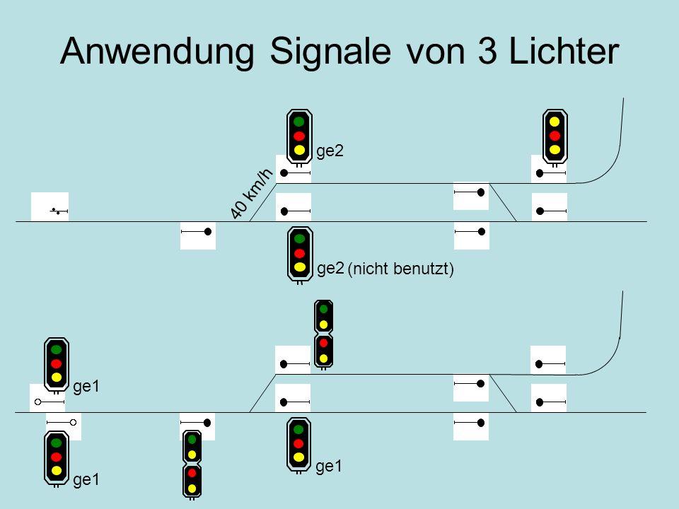 Anwendung Signale von 3 Lichter