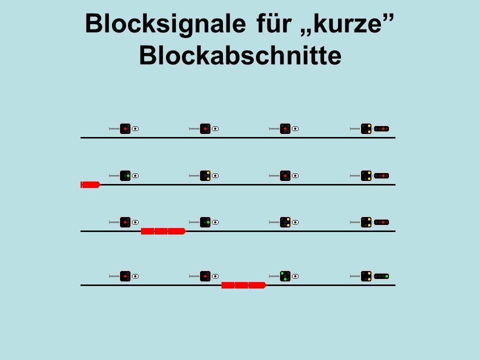 """Blocksignale für """"kurze Blockabschnitte"""