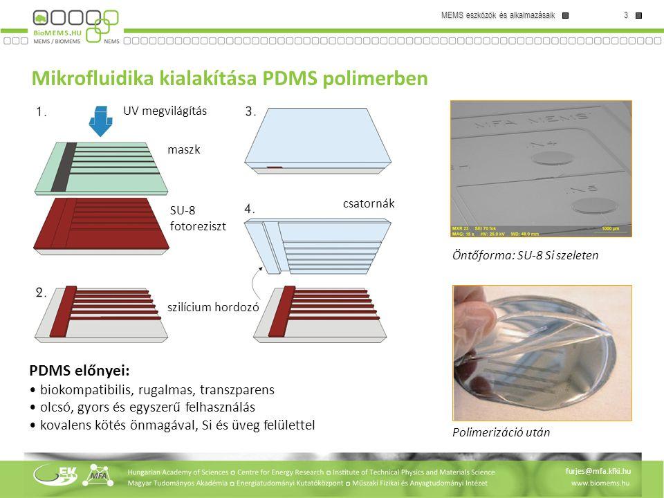 Mikrofluidika kialakítása PDMS polimerben