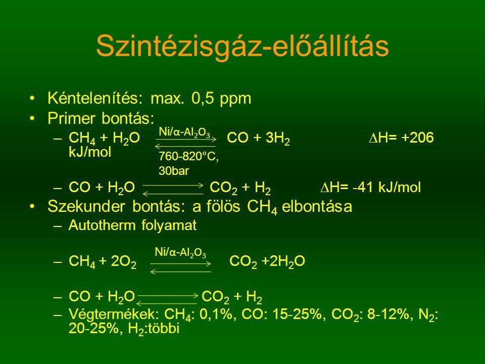 Szintézisgáz-előállítás