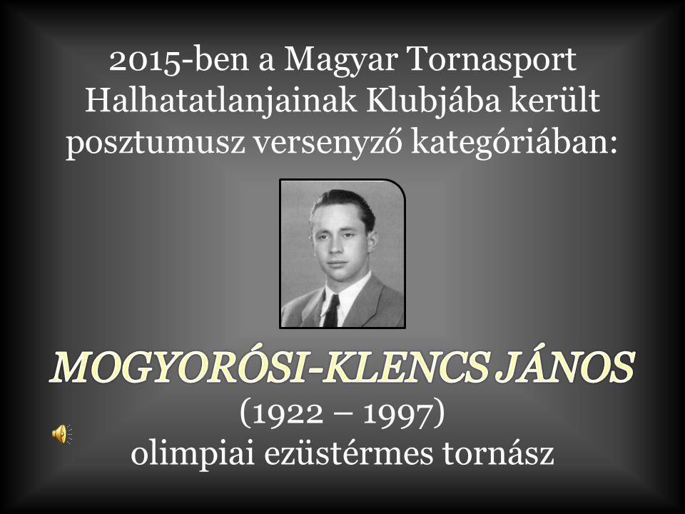 (1922 – 1997) olimpiai ezüstérmes tornász