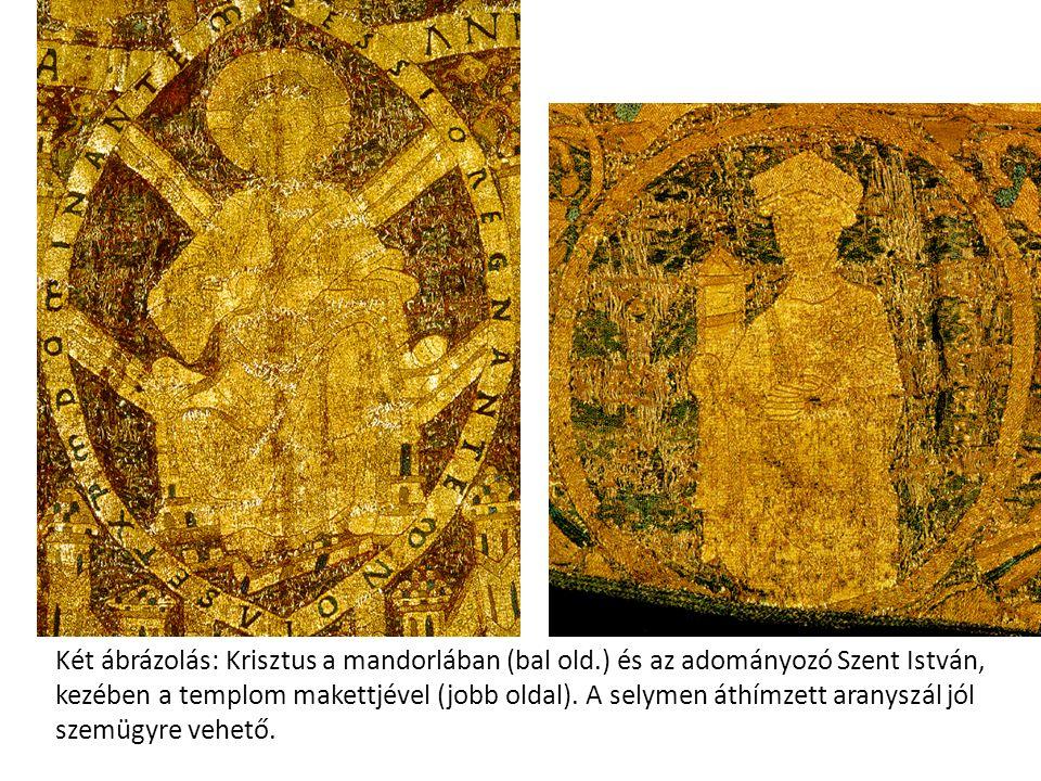 Két ábrázolás: Krisztus a mandorlában (bal old
