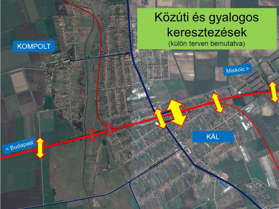 Közúti és gyalogos keresztezések
