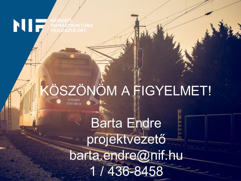 KÖSZÖNÖM A FIGYELMET! Barta Endre projektvezető barta.endre@nif.hu 1 / 436-8458