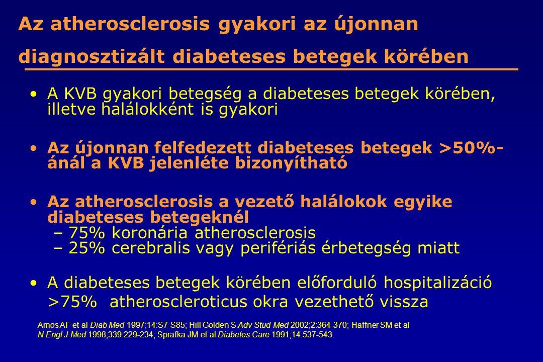 Az atherosclerosis gyakori az újonnan diagnosztizált diabeteses betegek körében