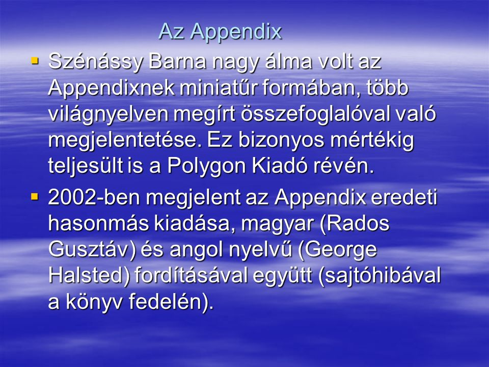 Az Appendix