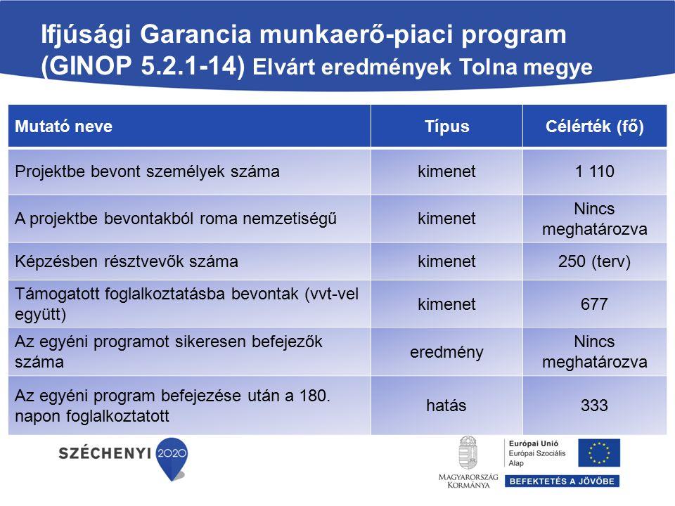 Ifjúsági Garancia munkaerő-piaci program (GINOP 5. 2