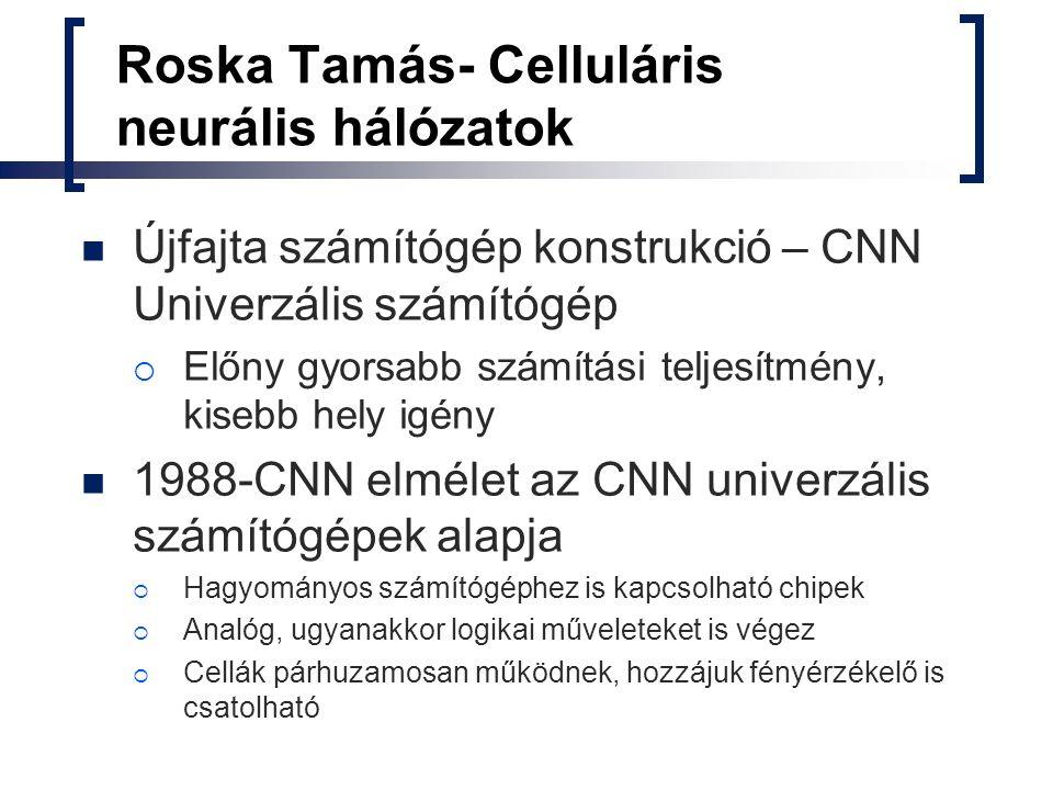 Roska Tamás- Celluláris neurális hálózatok