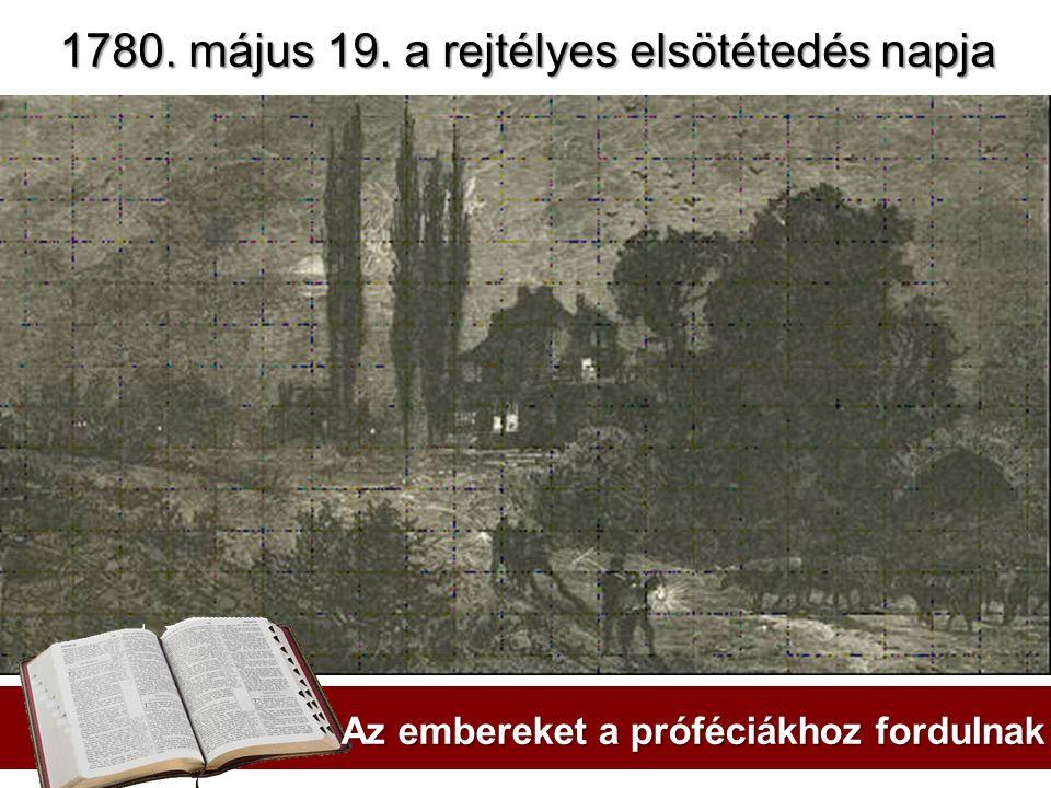 1780. május 19. a rejtélyes elsötétedés napja