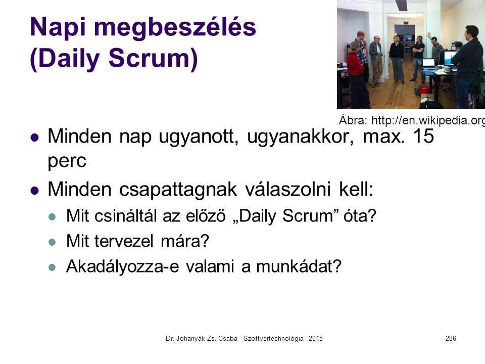 Napi megbeszélés (Daily Scrum)